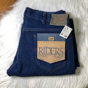 NEW OLD STOCK LEE RIDERS JEANS INDIGO NWT